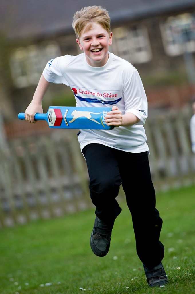 The 2 millionth child to take part in the Chance to Shine schools cricket coaching sessions.