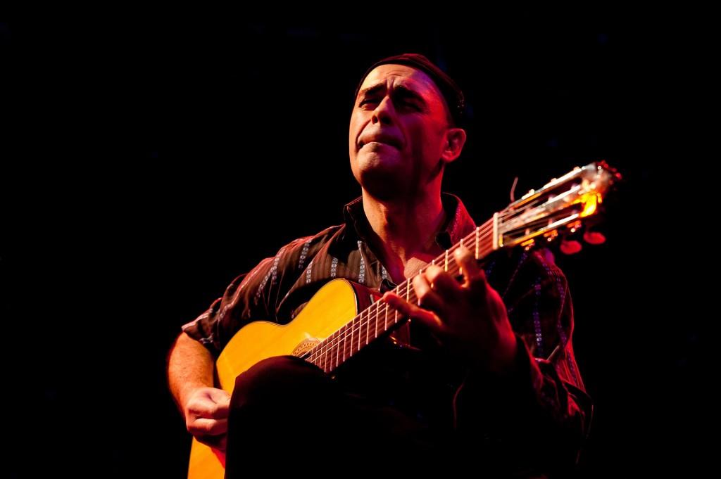 Italian guitar supremo Antonio Forcione performing at Nottingham Contemporary.