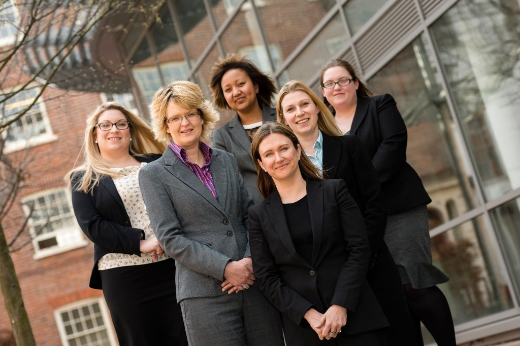 Press shot announcing the appointment of 5 new solicitors at Brady Solicitors