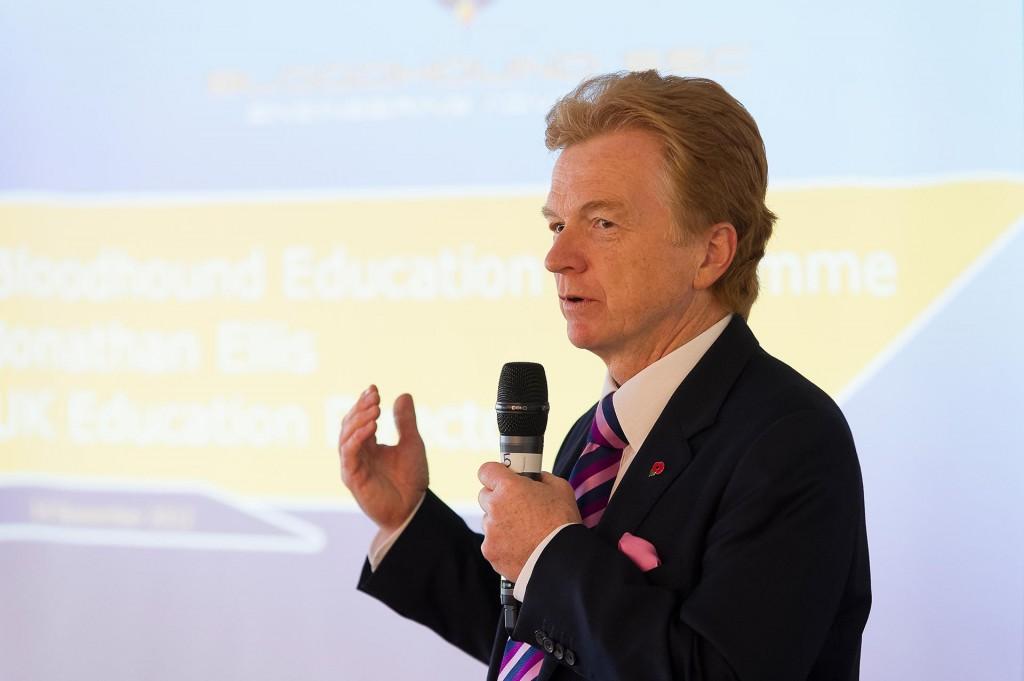Councillor Neil Clarke address the Rushcliffe Business Partnership annual showcase event at Trent Bridge Cricket Ground.
