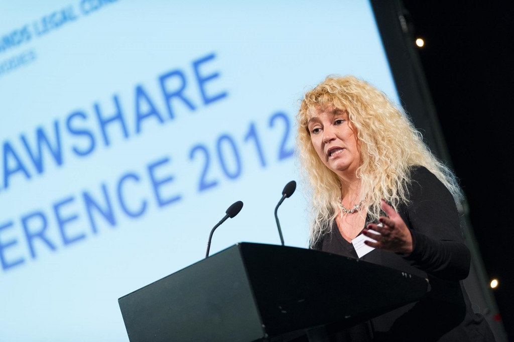 Guest speaker address the EM Lawshare Conference 2012 at East Midlands Conference Centre.