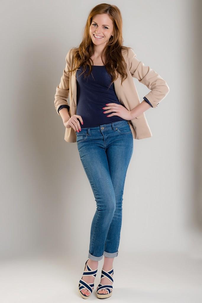 Studio fashion portrait for model Kayleigh McGowan's portfolio.