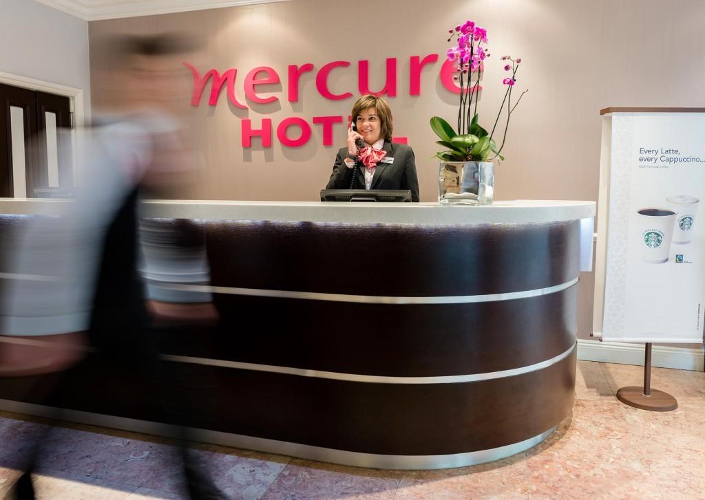 Reception area of Mercure Kensington