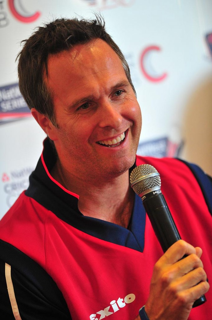 Michael Vaughan during a Q&A at Royston Cricket Club, Oldham.