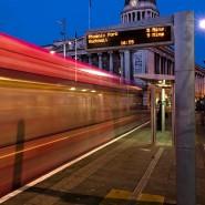 Tram through Nottingham's Market Square