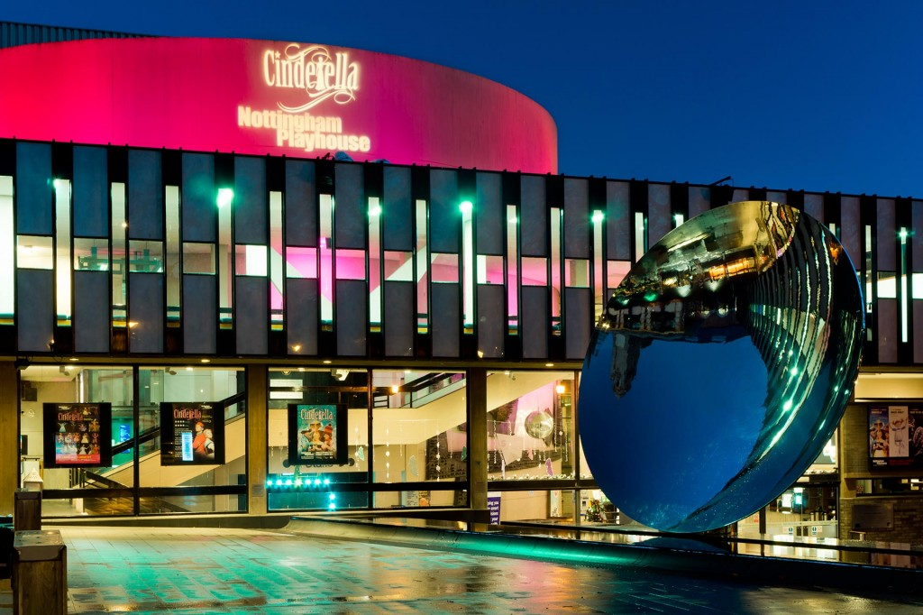 Architectural photography of the Nottingham Playhouse during the run of the pantomime Cinderella