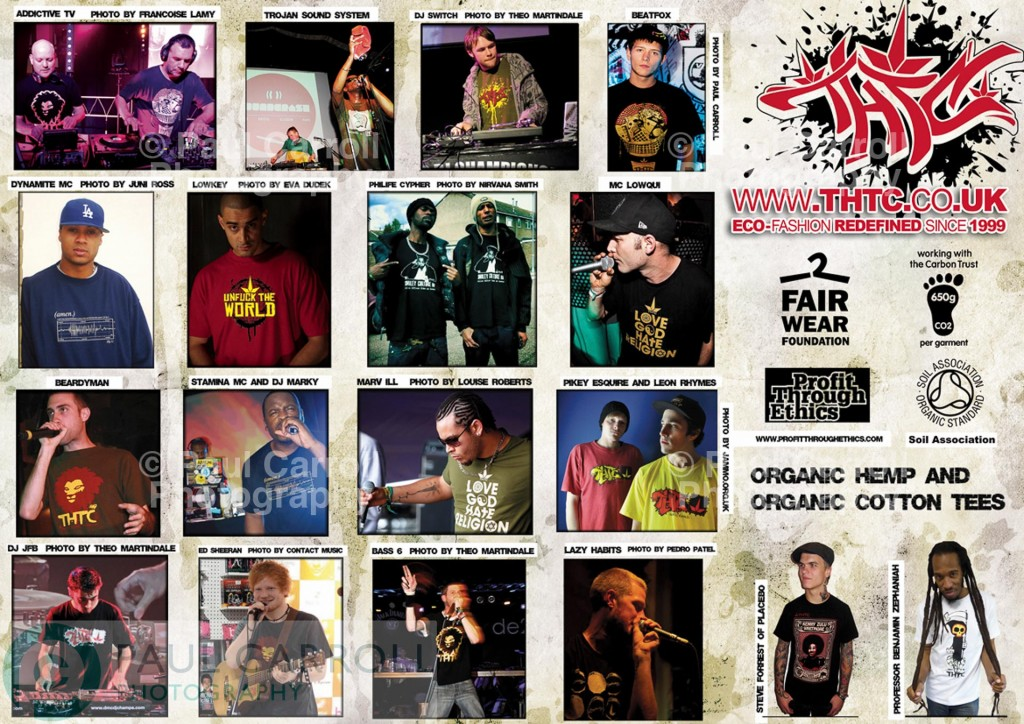 Artist portraits from UK Beatbox Championships used by one of the sponsors THTC