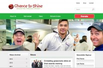 Screenshot from the Chance to Shine website