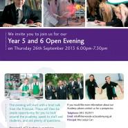 Sherwood E-Act Academy promotional leaflet