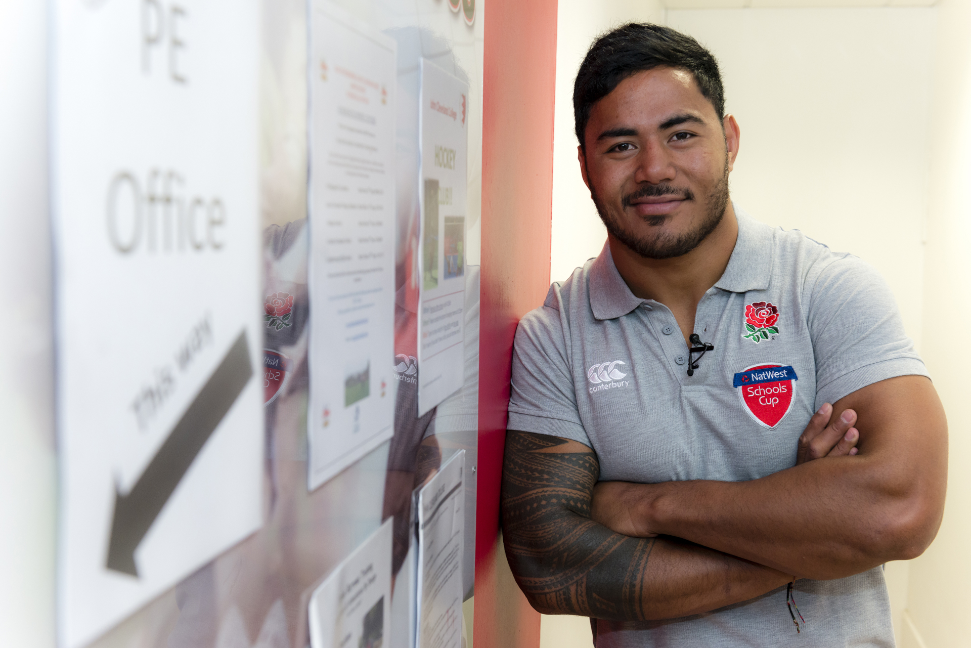 Leicester Tigers and Lions rugby ace Manu Tuilagi visits his old school to inspire a new generation of rugby players.
