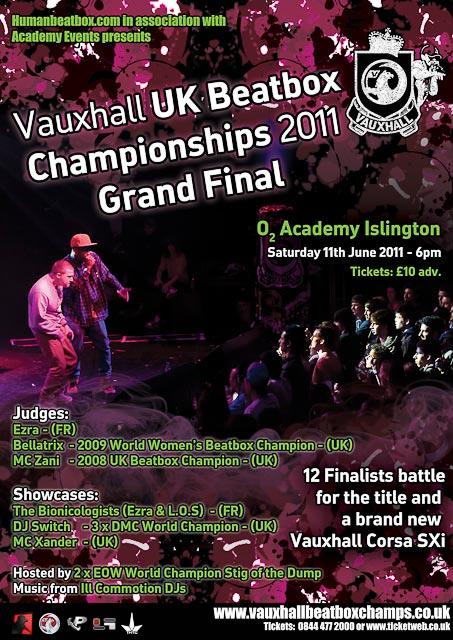 UK Beatbox Championship 2011 poster