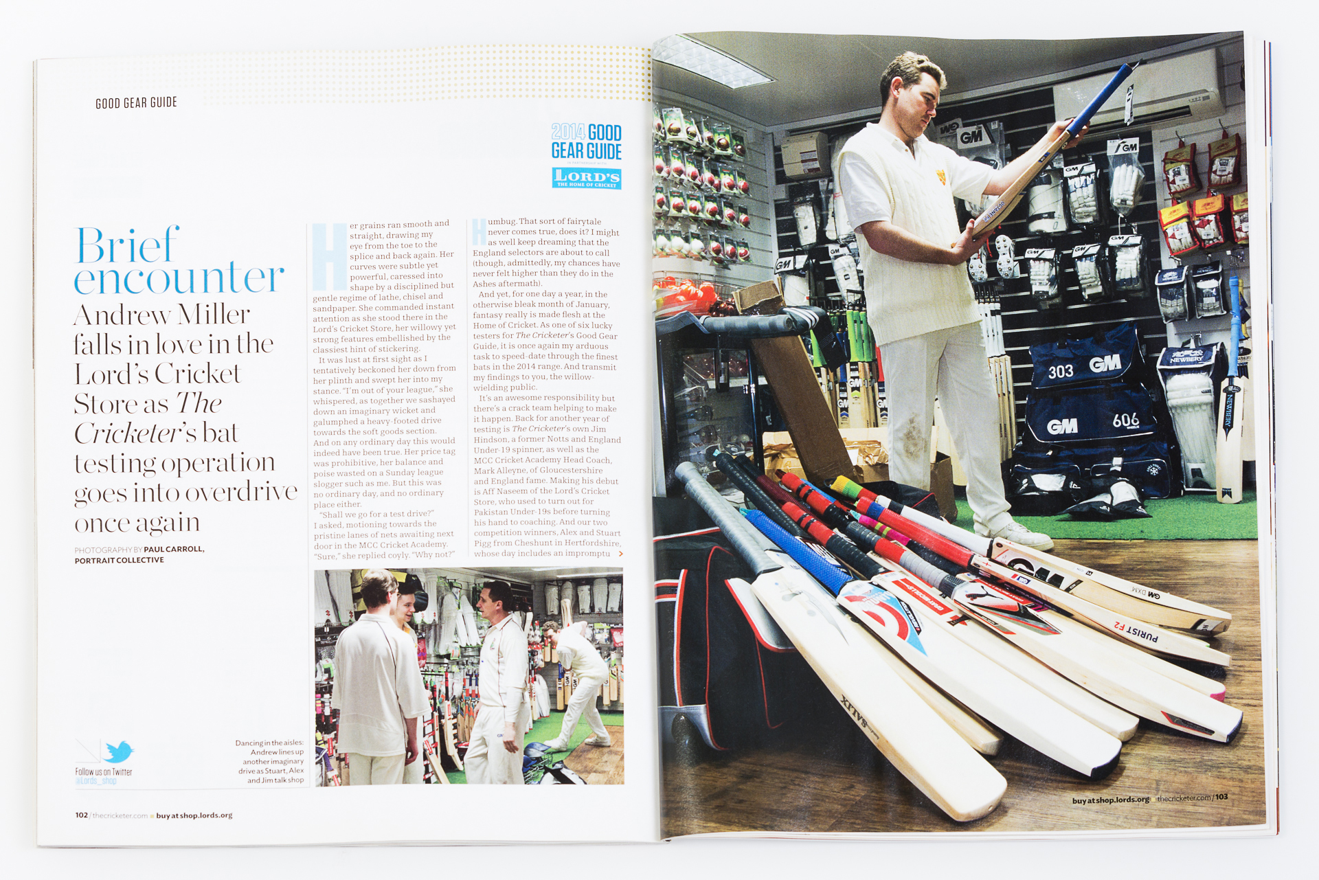 The Cricketer Magazine Good Gear Guide 2014. All photography courtesy Paul Carroll Photography / Portrait Collective.
