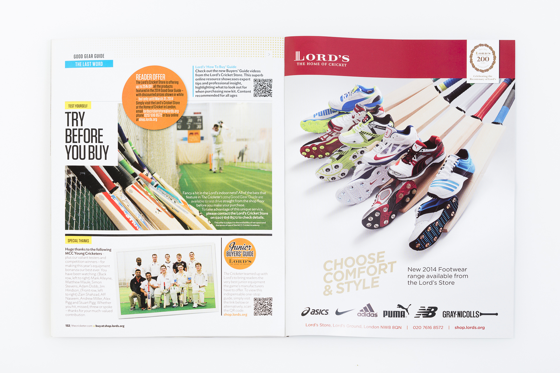 The Cricketer Magazine Good Gear Guide 2014 review. All photography courtesy Paul Carroll / Portrait Collective.