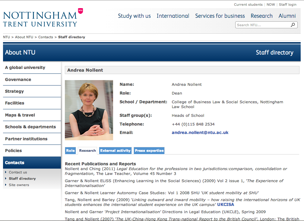 With the colour versions used on Andrea's and Jenny's profile pages on the Nottingham Trent University website.