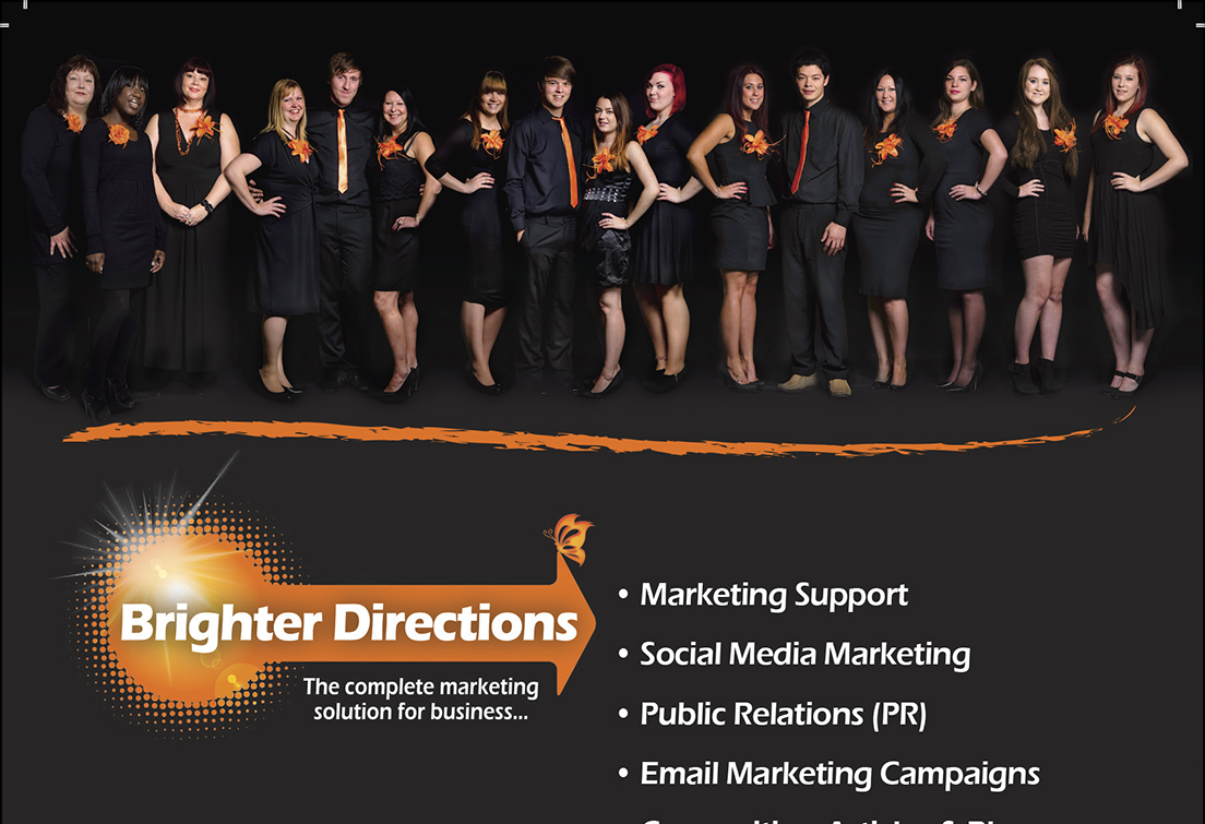 The black background ties with with their brand colours and the resulting montage is the perfect dimensions to use as a banner picture across the top of websites, leaflets or posters as an attention grabber.