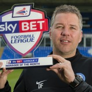 Darren Ferguson April Manager of the Month