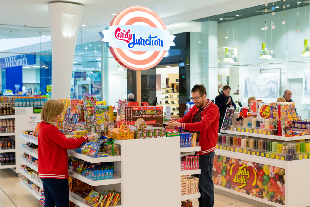 Candy Junction sweet shop Derby Intu shopping centre